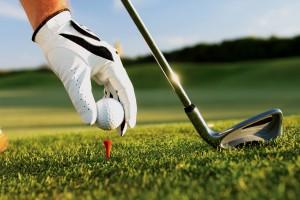 Césped artificial golf.