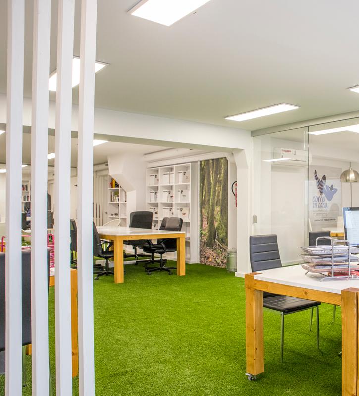 Césped artificial para oficinas