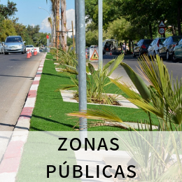 cesped artificial para zonas publicas en alicante